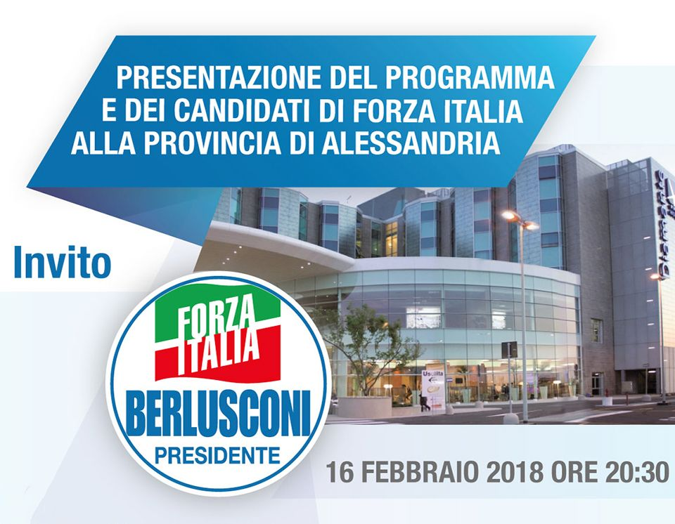 Presentazione dei Candidati – Hotel Diamante – 16/02/18